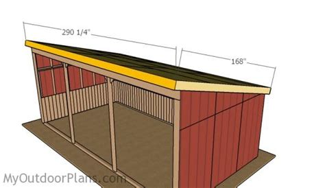 12x24 loafing shed roof plans myoutdoorplans free woodworking plans and projects diy shed