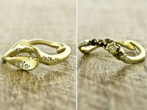 recycled yellow gold handcrafted into unique eco friendly
