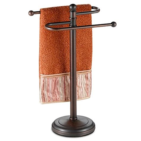 bathroom towel tree rack buy curved hand towel tree in oil rubbed bronze from bed