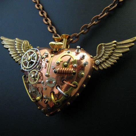 steunk pendant jewelry fob charm gears