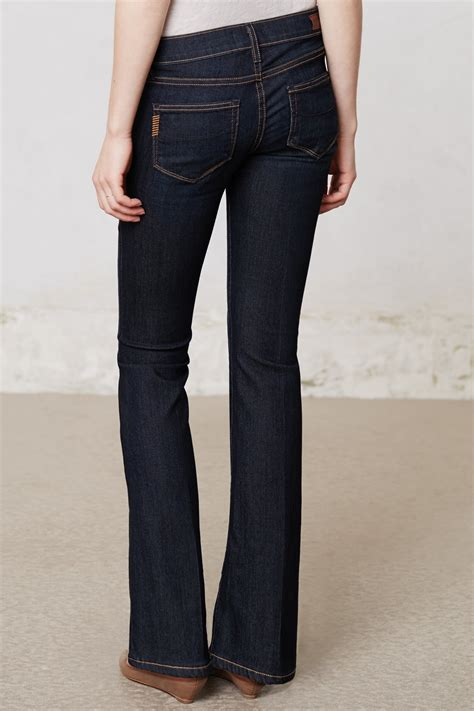 paige petite jeans lyst paige skyline boot petite jeans in blue