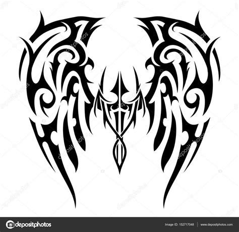 tattoo tribal wings designs vector wings tribal stock vector 169 akv lv 152717048