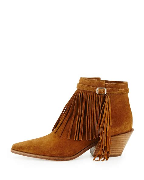 ankle boots with fringe lyst sigerson morrison lena fringed suede ankle boots in
