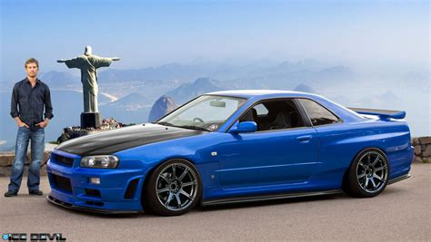 nissan r34 paul walker r34 gtr paul walker s tribute chop by klemola on deviantart