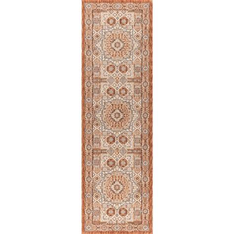 tayse rugs fairview spice 2 ft 3 in x 11 ft runner