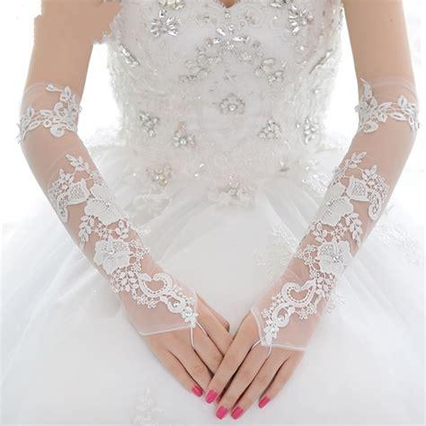 Promo Sarung Tangan Kain Putih 5 Benang Cabe lynlynshop baju pesta butik indonesia gaun pengantin