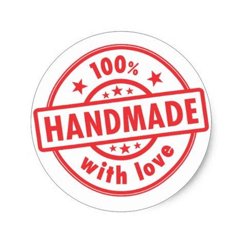 Handmade By Stickers - handmade with quality st sticker zazzle