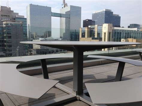 table ronde design la grande ronde picnic table cassecroute handmade picnic tables