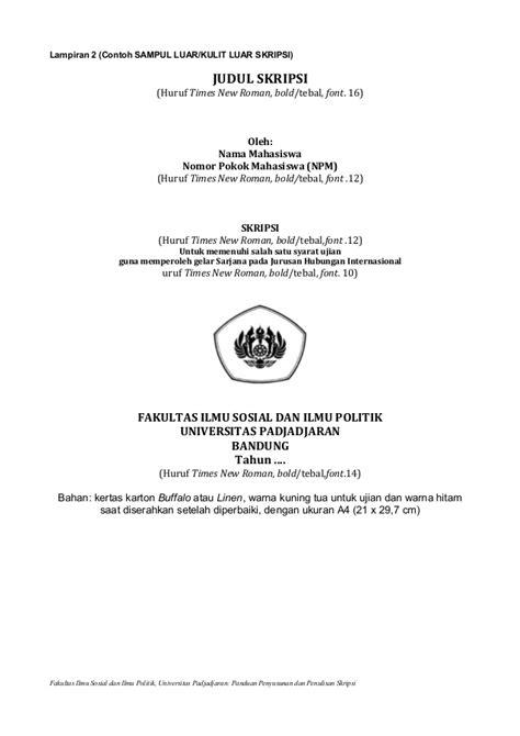 format penulisan skripsi universitas jember panduan penyusunan dan penulisan skripsi