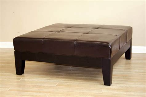 brown leather ottoman coffee table attractive brown leather ottoman coffee table