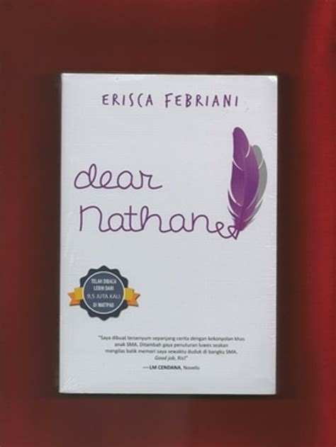 Novel Indonesia Buku Novel Hans Dan Danur Original Risa Saraswati jual novel dear nathan soft cover baru dan original di lapak munchon store prasetyohutomo88