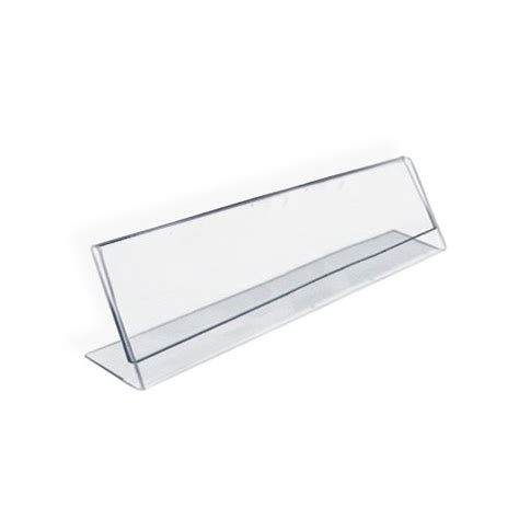 acrylic desk name plates small l shaped desk azar 112703 horizontal name plate