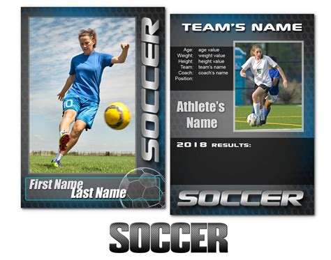 soccer trading card template soccer trading card template 7 best templates ideas
