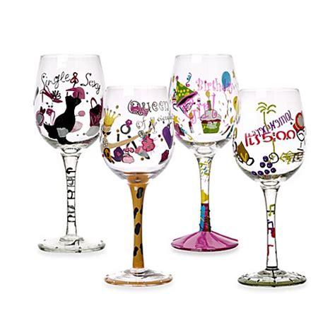 novelty barware novelty decal wine glasses bed bath beyond