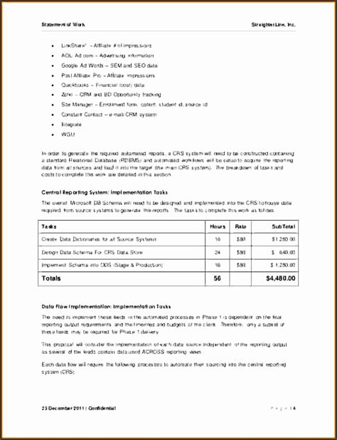 statement of work template consulting 9 statement of work sle sletemplatess