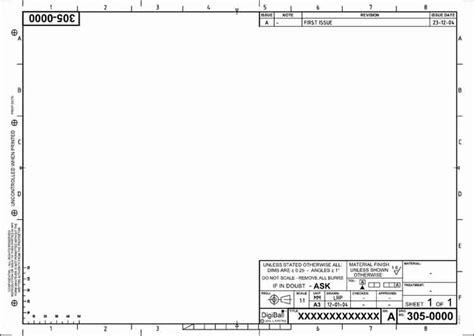 a3 size blank drawing sheet
