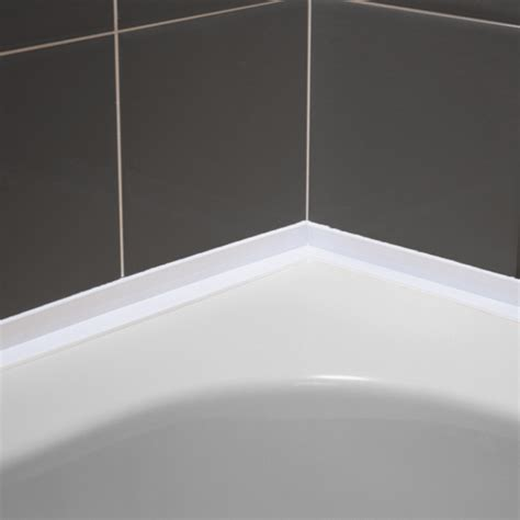 bathtub trim eezi seal self adhesive over tile bath seal sor by genesis