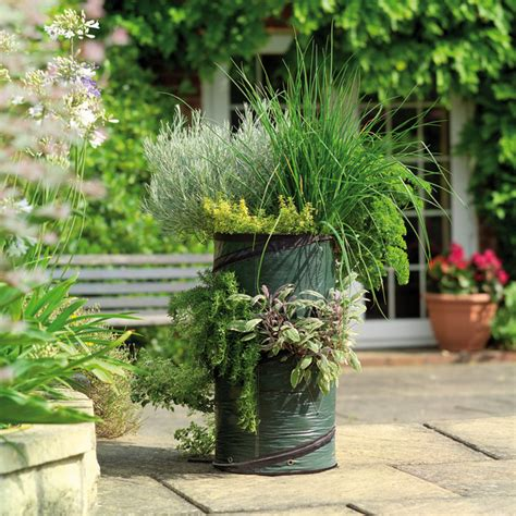 herb garden planters herb planter outdoor pots and planters by