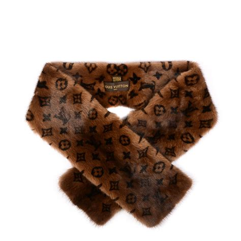 Gift It Louis Vuitton Scarf by Louis Vuitton Monogram Mink Fur Scarf Stole Wrap 155016