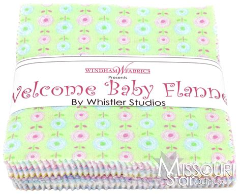 welcome baby flannel charm pack whistler studios