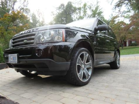 extended warranty for range rover sport find used 2007 range rover sport black on black with
