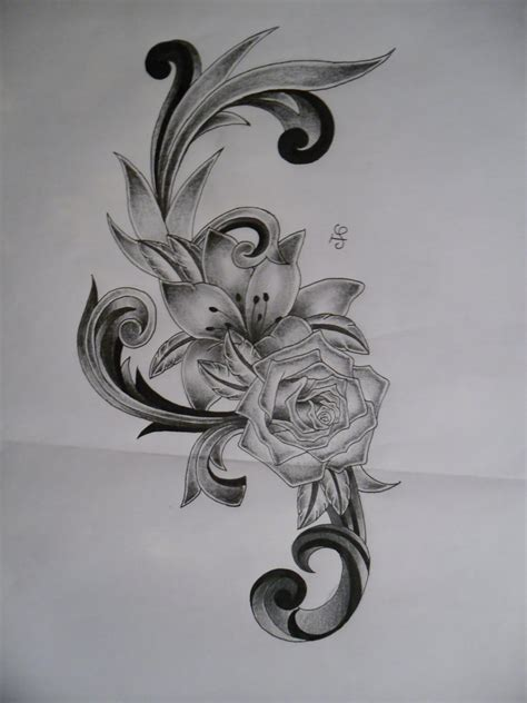 lily and rose tattoo designs 35 flower design sles and ideas