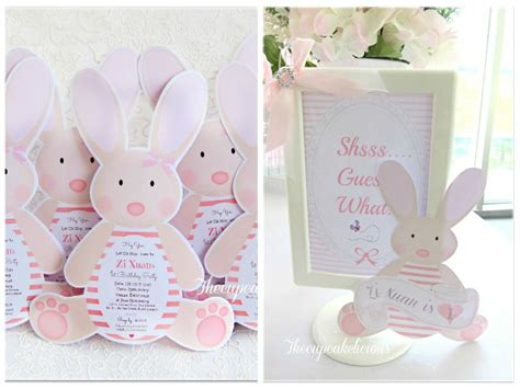Bunny Birthday Decorations by Zi Xuan S Chic Bunny Themed 1st Birthday