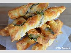Parmesan and Spinach Twists Meat Spinach Cheese Pastry