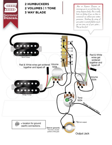 seymour duncan wiring diagrams 1 humbucker 1 volume