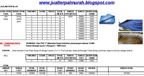 Harga Kolam Terpal Terbaru jual terpal murah daftar harga kolam terpal a4