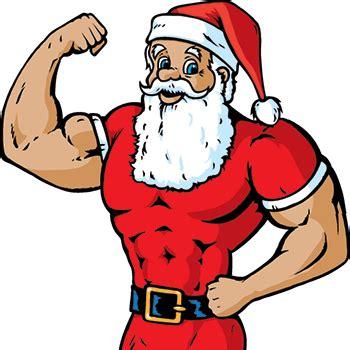 imagenes de santa claus haciendo ejercicio staying motivated through the holidays