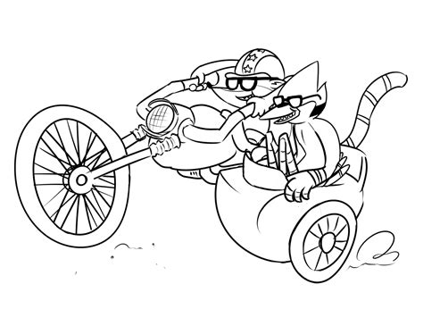 free coloring pages of rigby from regular show