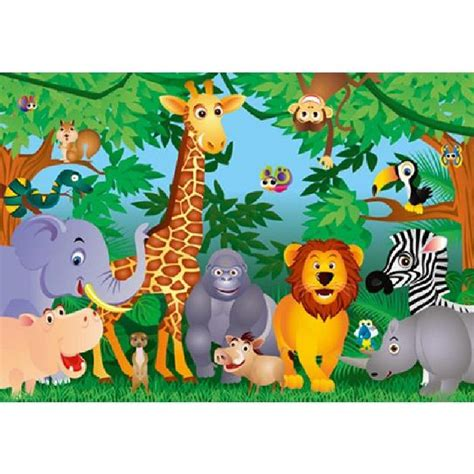 poster mural g 233 ant animaux de la jungle 366 x achat vente affiche cdiscount