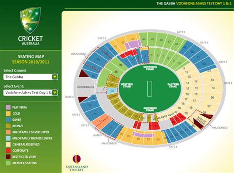what is the seating capacity of the mcg the vodafone ashes series australia 2010 2011