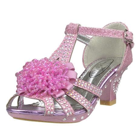 adorable kids dress up kids high heels shoes girls tea girl s evening t strap beaded rhinestone glitter high heel