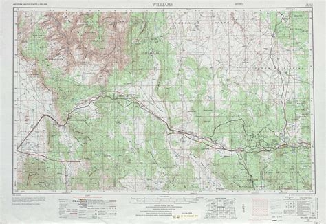 arizona topographical map williams topographic maps az usgs topo 35112a1 at