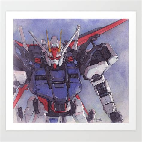 strike gundam art print  trunnec society