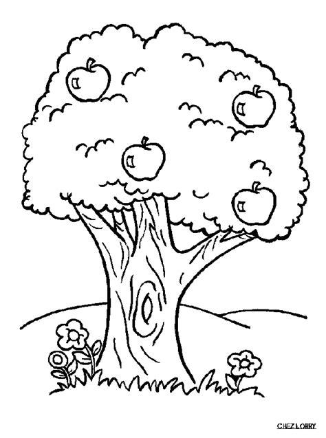 dessin à colorier pomme avec ver