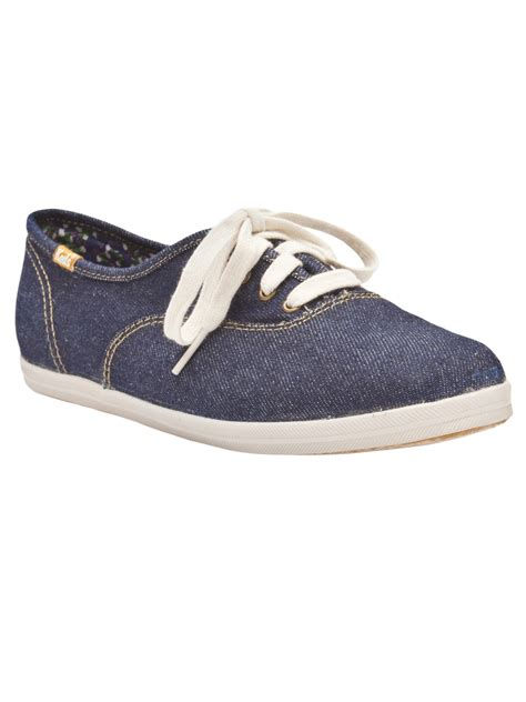rf denim kets shoes keds denim shoe in blue denim lyst