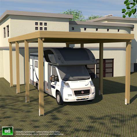 dachrinne carport caravan carport grundkonstruktion 4x7 typ 280 ohne