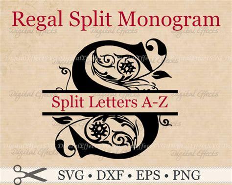 Wedding Font Openoffice by Regal Split Monogram Svg Dxf Eps Png Files Regal Split