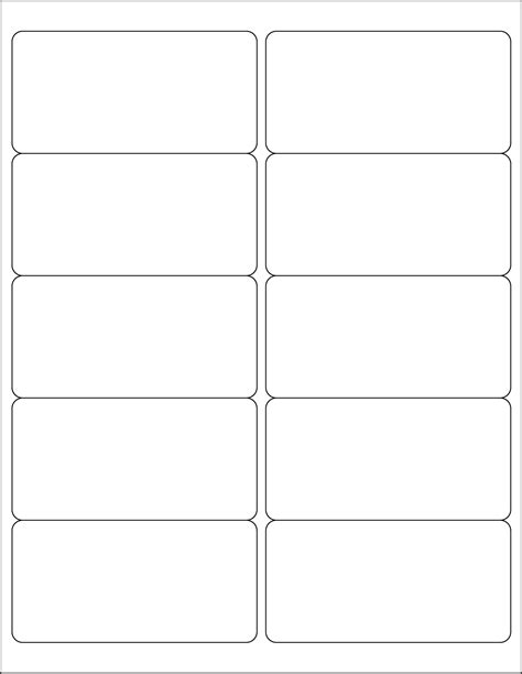 printable templates labels 8 best images of free printable label templates avery