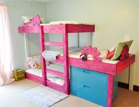 Three Bunk Bed Design Bunk Bed Plans Loft Beds And Bunk Beds Buying Ready Made Vs Bed Plans Diy Blueprints