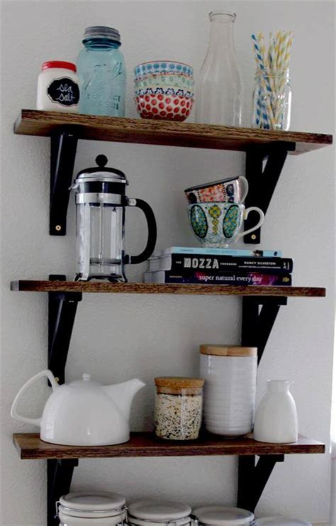Diy Kitchen Shelving Ideas | 10 unique diy shelves for home storage diy and crafts