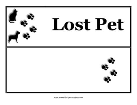 lost pet flyer