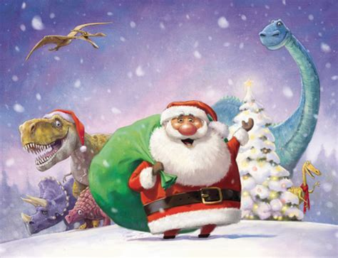 dinosaur christmas mcbill s illustration blog