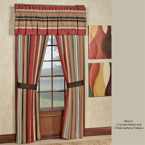 striped drapes window treatments calhoun striped southwest window treatment