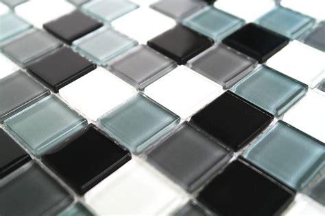 glasmosaik fliesen glasmosaik fliesen schwarz wei 223 grau mix kr10