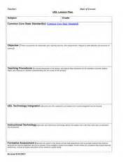 Udl Lesson Plan Template by Udl Lesson Plan Template Assignment 2 Met The