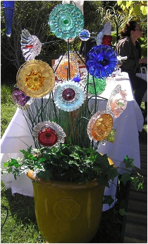 wonderful garden accents created  recycled materials